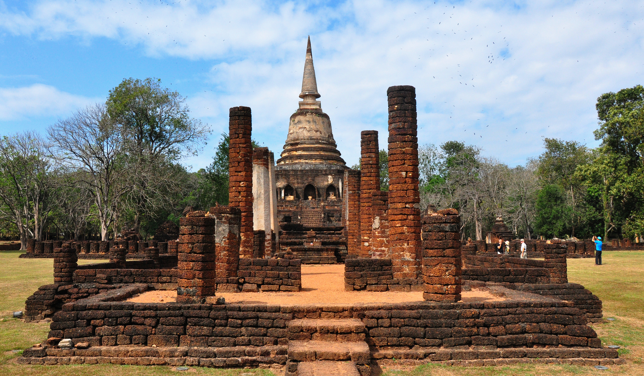 Si Satchanalai Historical Park Temple In Thailand