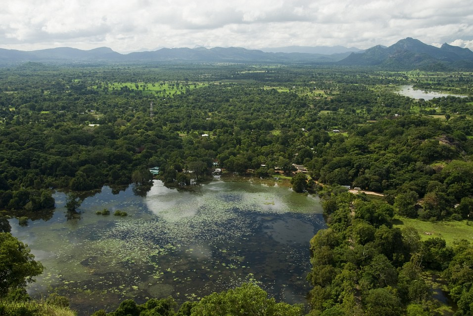 View from the top of Sigiriya (Lion's rock, සීගිරිය) Sri Lanka - Sigiriya