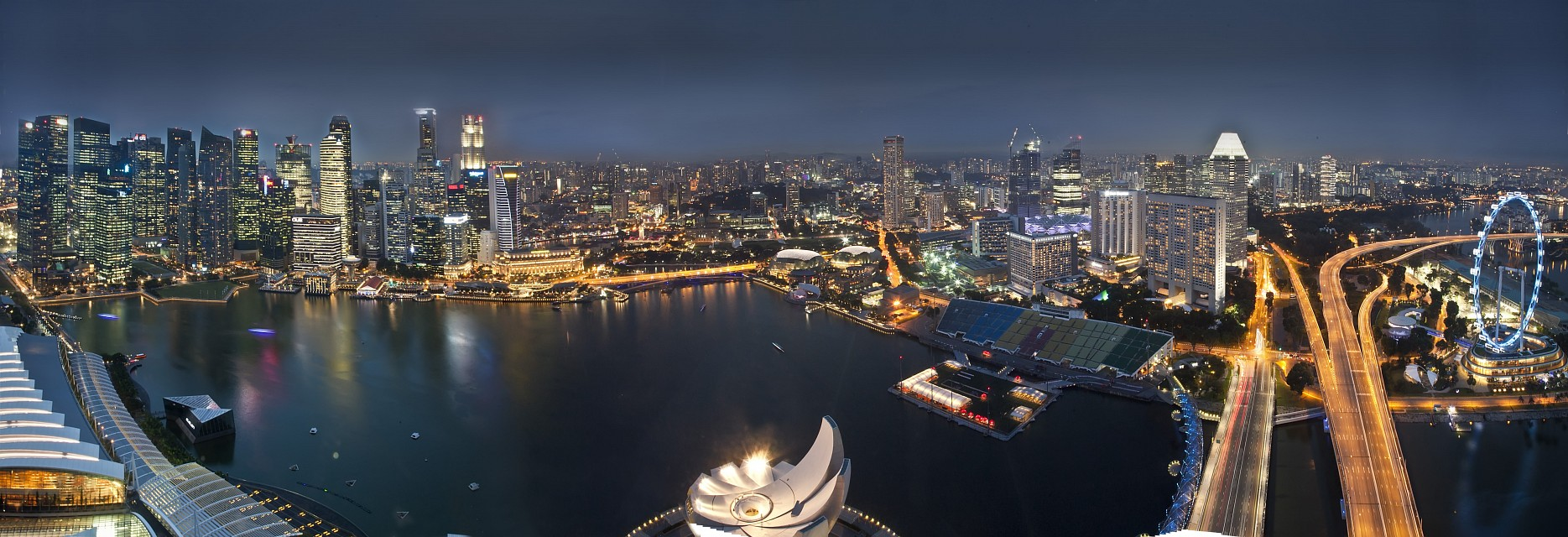 Singapore as seen from Marina