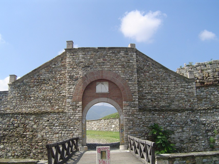 fortress entrance - Skopje Fortress