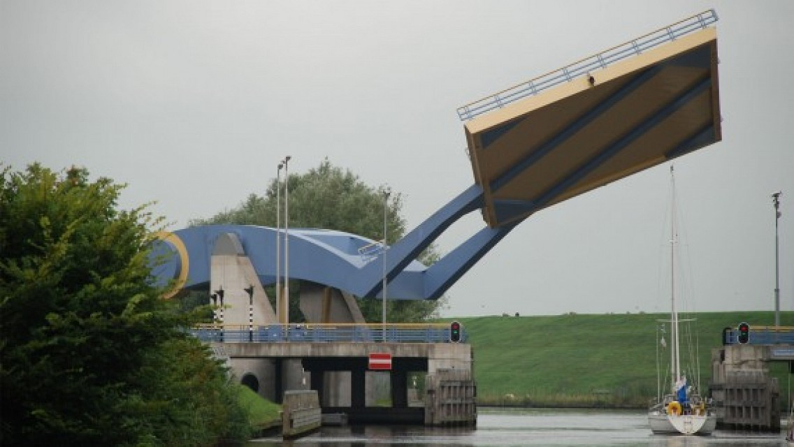 Slauerhoffbrug. Bridge in Netherlands, Europe