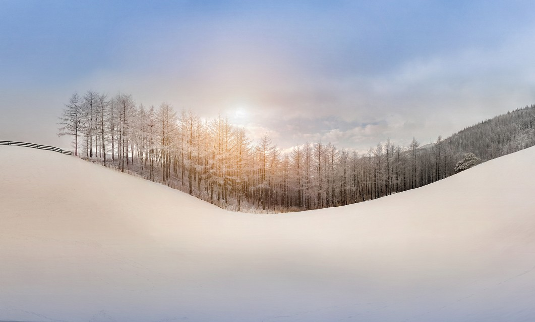 The white snow makes the world very beautiful - South Korea
