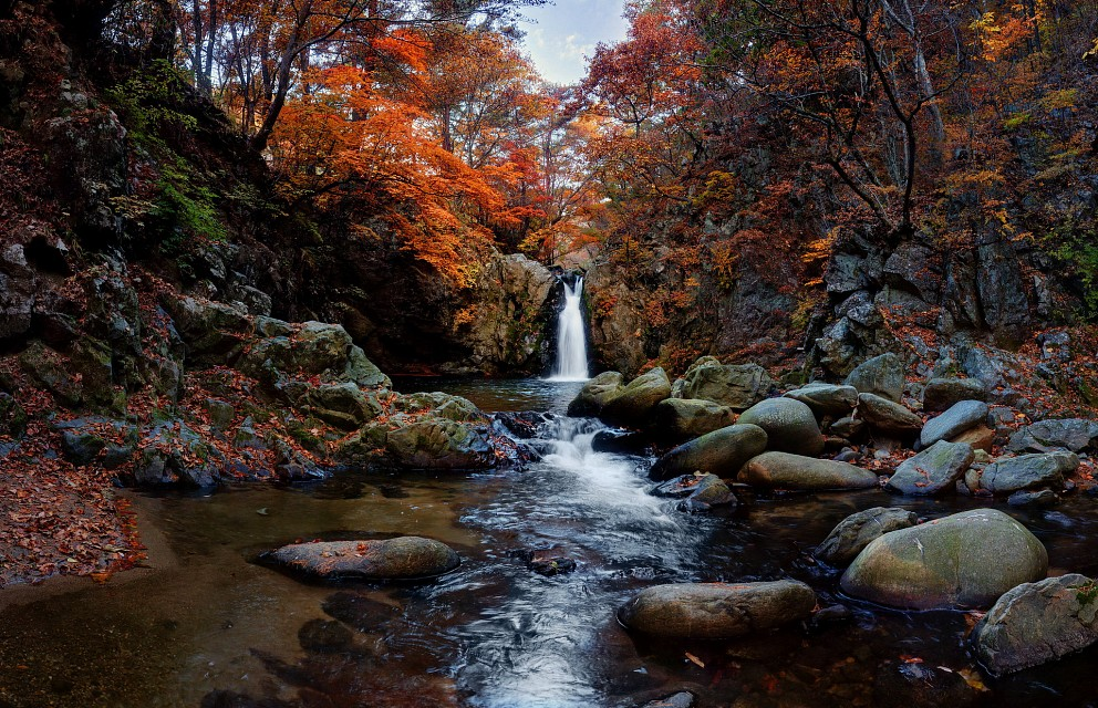 autumn waterfall - South Korea