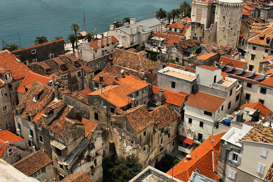 View from St. Domnius Tower - Split