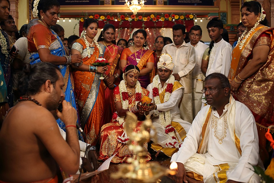 The Wedding Ceremony in Indian Style - Sri Mahamariamman Temple