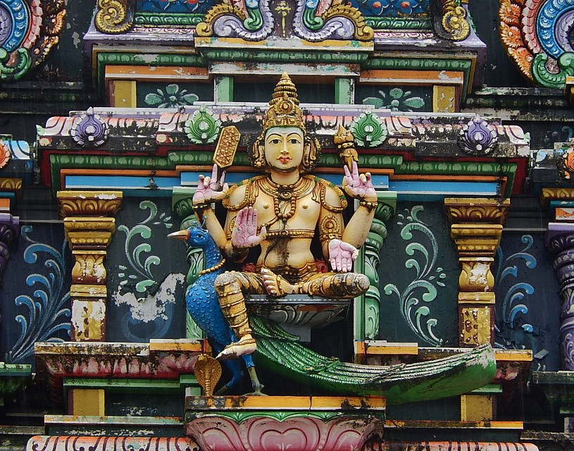 God with Four Arms - Sri Siva Subramaniya temple