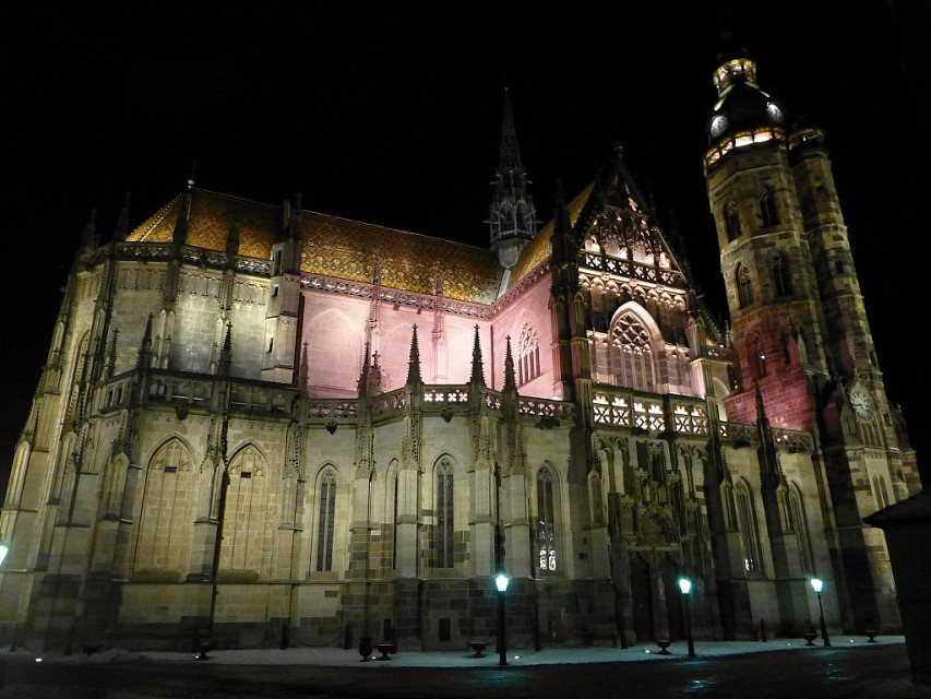 Kosice - St Elisabeth Cathedral in the night - St. Elisabeth Cathedral