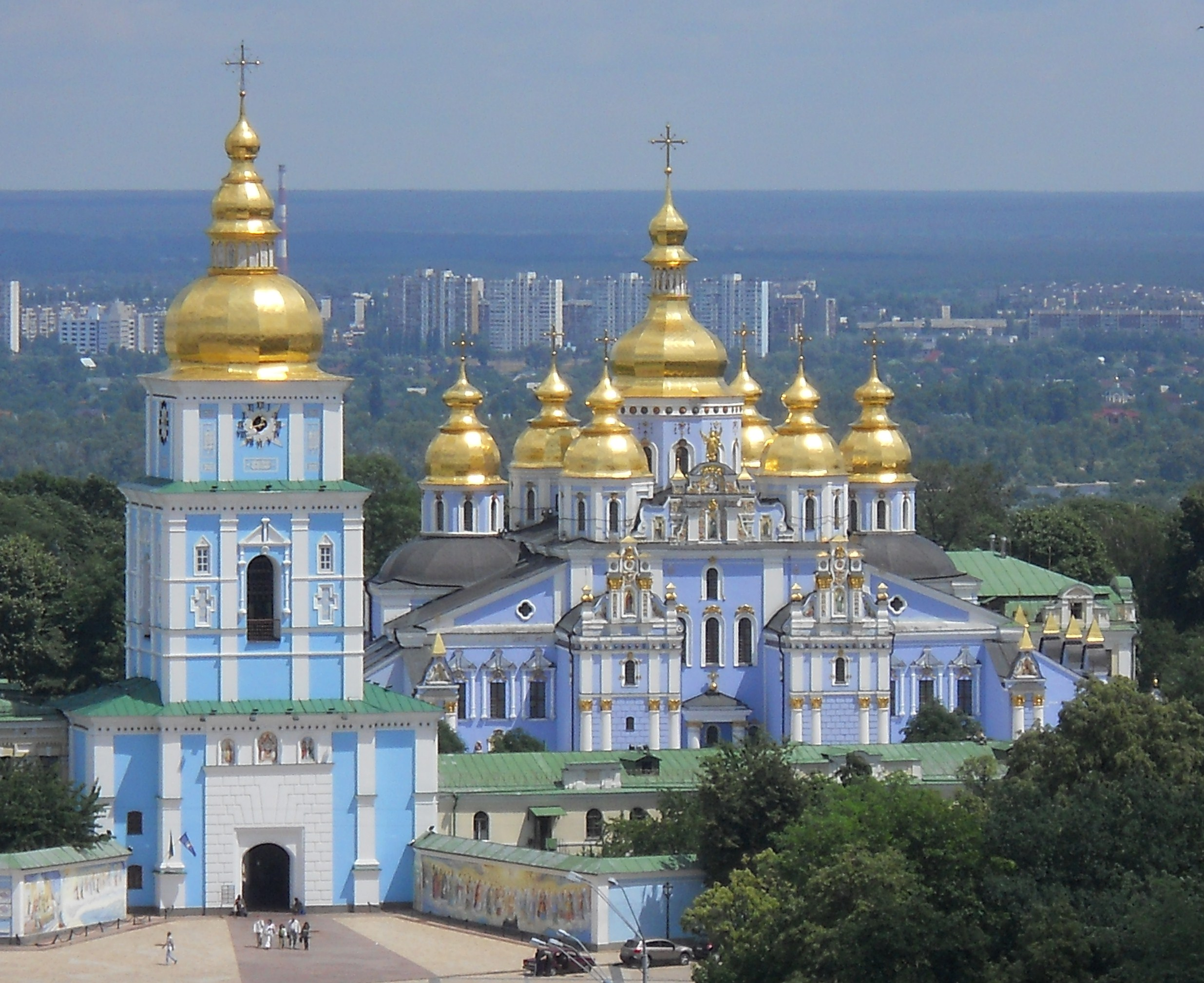 saint michaels golden domed monastery - HD 2471×2017