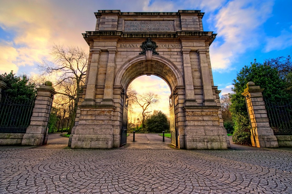 The arch at Stephen's Green - St
