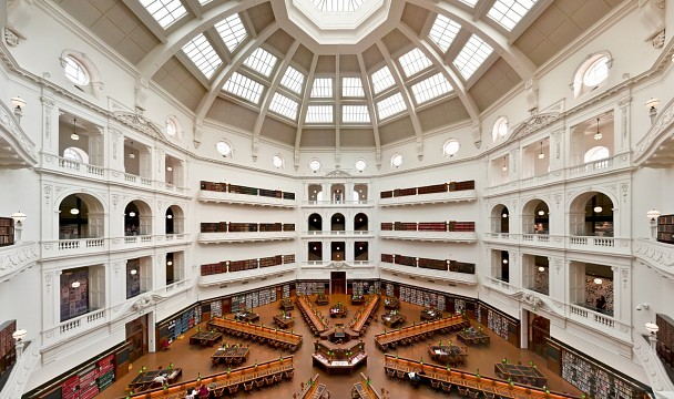 Inside dome - State Library of Victoria