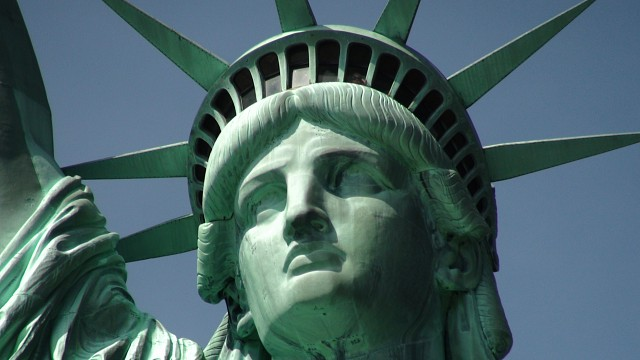 Statue of Liberty and Close-up of Head - Statue of Liberty