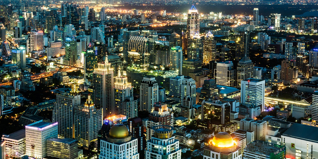 Sukhumvit Bangkok as seen from the Baiyoke Sky Tower Observation Platform - Bangkok