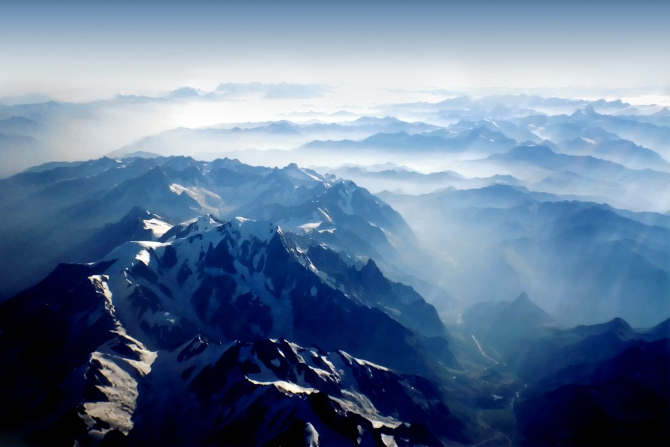 Mountains from Sky - Alps - Swiss and Italy - Alpi Svizzera e Italia - Dino Olivieri - Switzerland