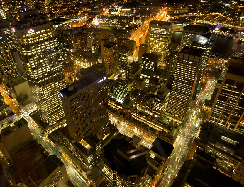Sydney at Night, Sydney Tower -