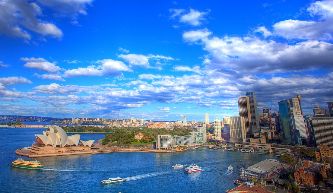 HDR Sydney from Pylon Lookout, Sydney, NSW - Sydney