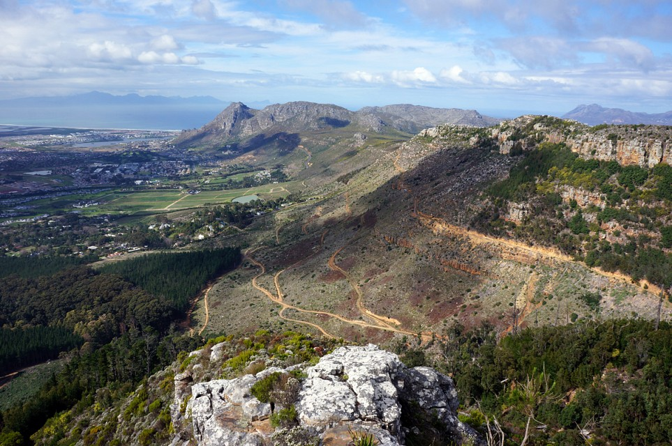 View over lentil curtain - Table Mountain National Park