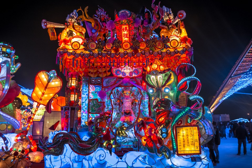 Another ornate temple at Taiwan Lantern Festival 2015 - Taichung