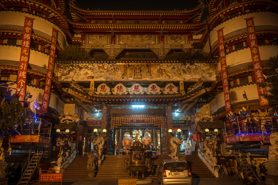 A temple in Taichung by night - Taichung