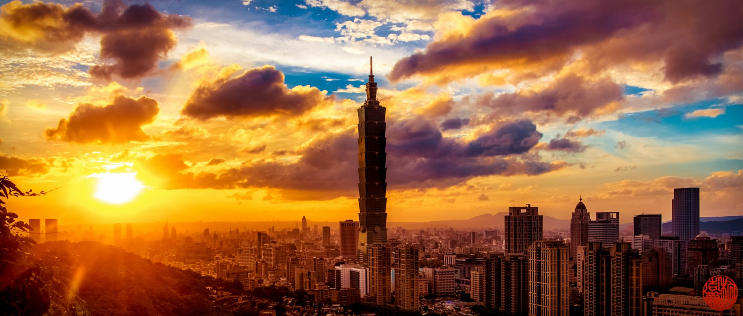 cloudy friday evening in Taipei - Taipei 101