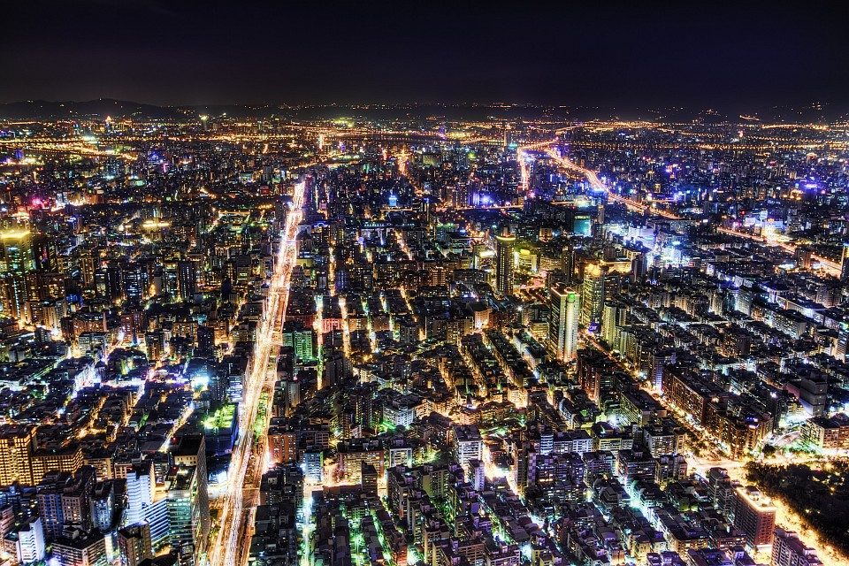 Nightscape from Taipei 101 - Taipei