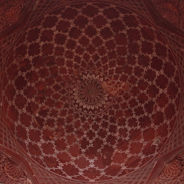Taj Mahal mosque or masjid ceiling - Taj Mahal Mosque