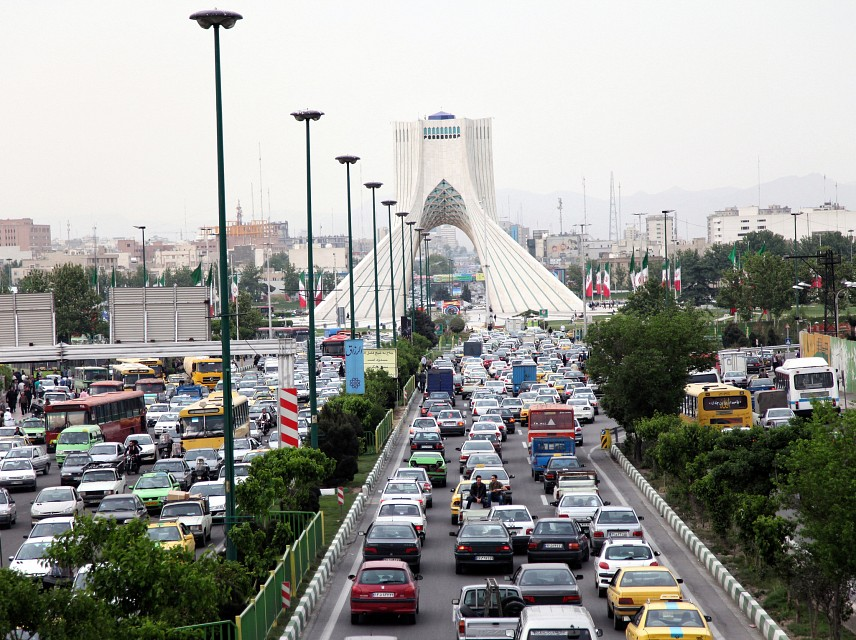 peak-hour traffic in Tehran - Tehran