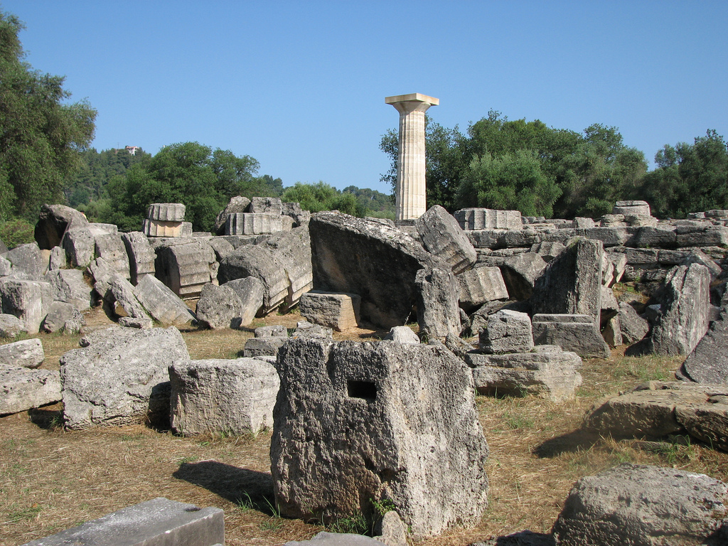 Temple of zeus ruin in greece thousand wonders for The olympia