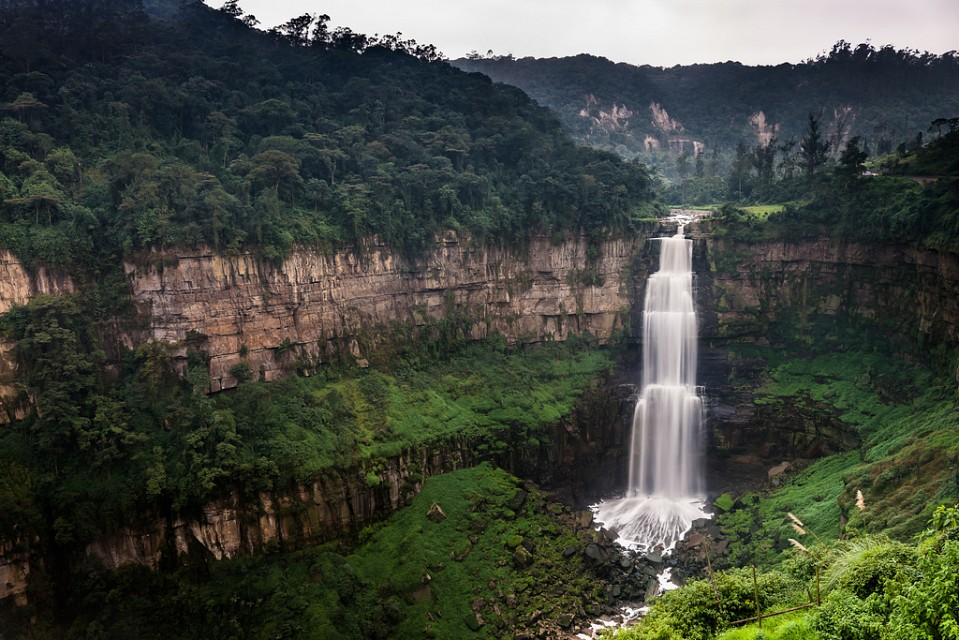 Tequendama Falls. Waterfall in Colombia, South America