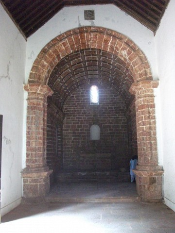 Inside the chapel -