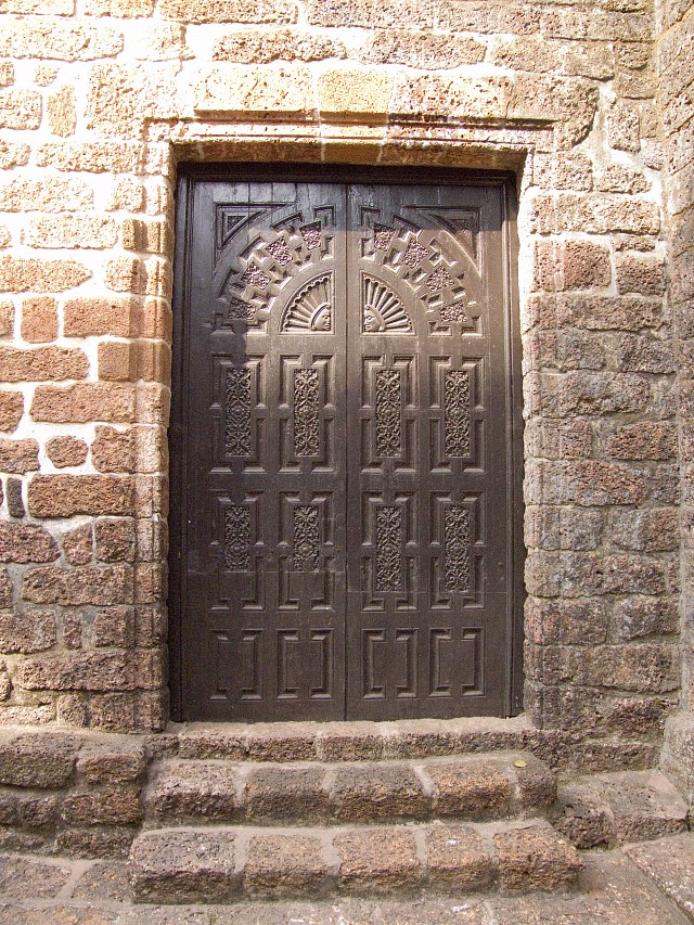 Door on side of chapel - The Chapel of St Catherine, Old Goa