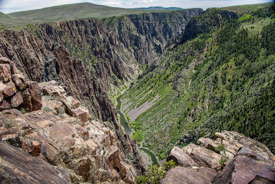 The Gunnison River from Pulpit Rock Overlook - The Pulpit Rock