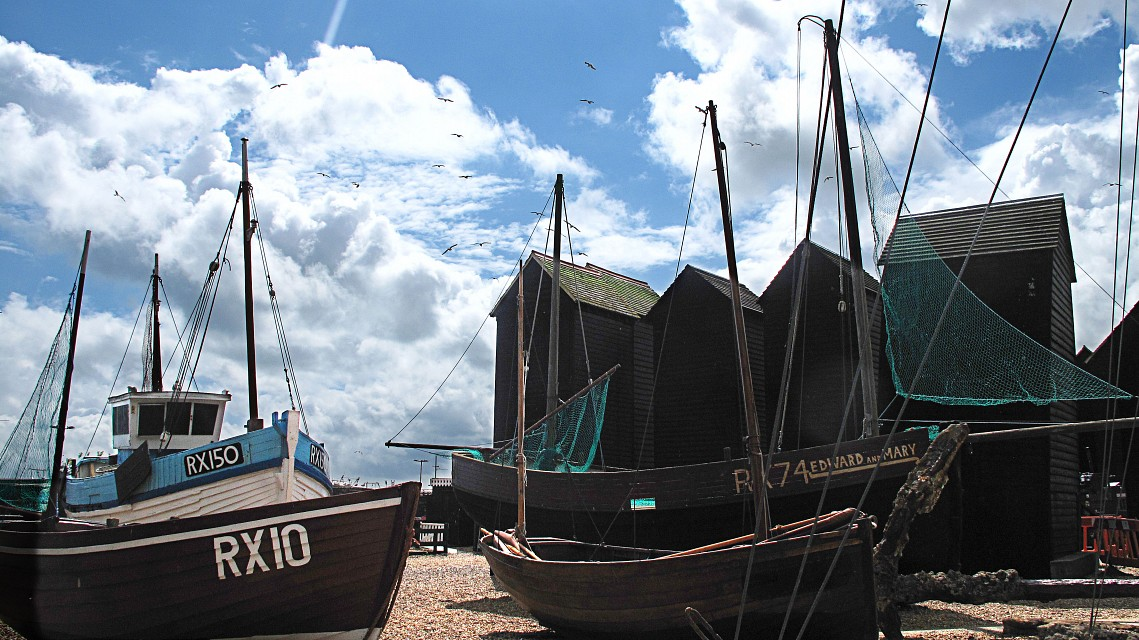 aa Old Fishing Boats, and Net Lofts, at the Stade Hastings 17 7 11. IMG_4020 - The Stade
