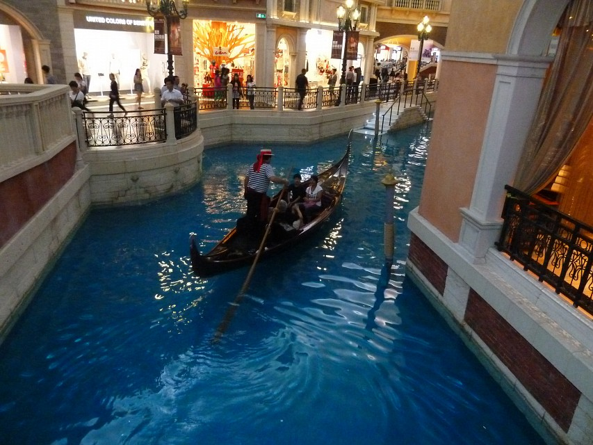 Gondola ride on the canal - The Venetian Macao