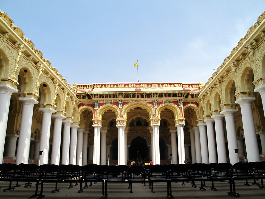 Thirumalai Nayakar Mahal. Palace in Tamil Nadu, India