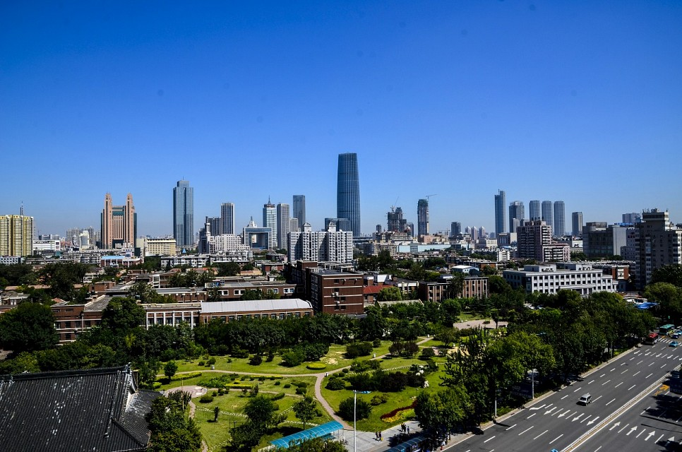 Tianjin from Nanjing Road (Heping