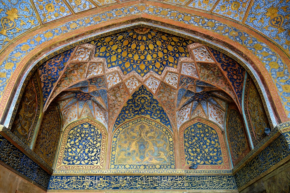 Anti-chamber decorated ceiling - Tomb of Akbar the Great