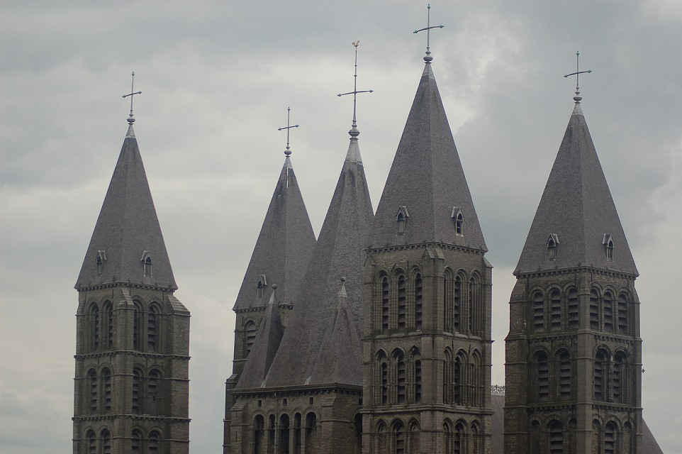 Cathedral towers - Tournai Cathedral