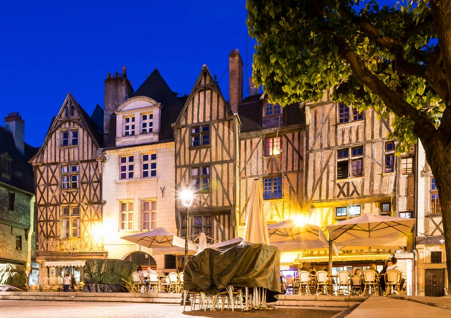 Place Plumereau, Tours,  France - Tours