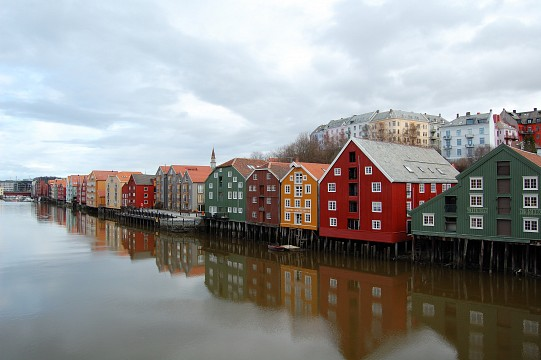 Old warehouses along