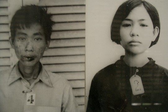 Victim Photos taken by the Khmer Rouge - Tuol Sleng Genocide Museum