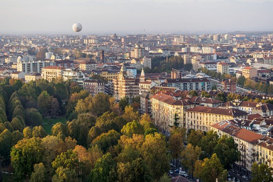 View from the observation deck of the Mola - Turin