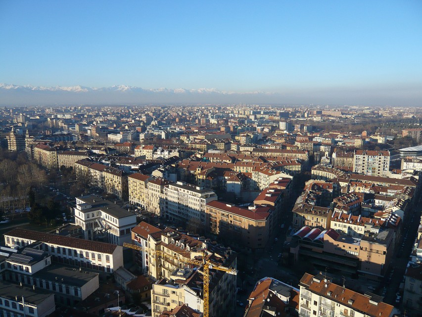 The view from the Mole Antonelliana - Turin