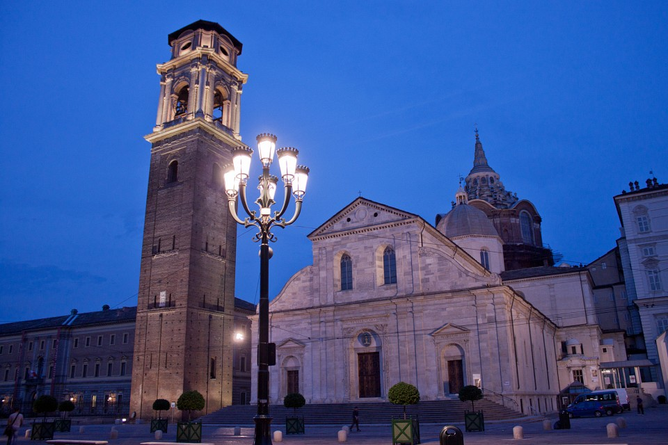 Italy: Turin Cathedral during blue hour - Turin Cathedral