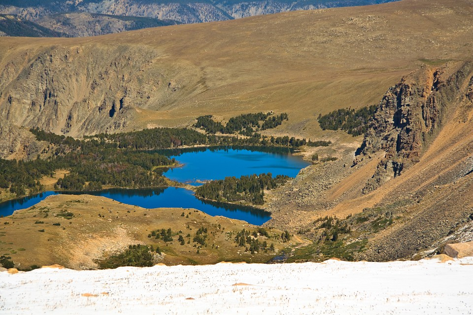 Twin Lakes from Bear Tooth Pass - Twin Lakes