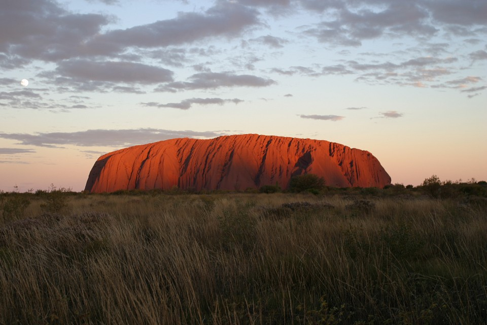 Uluru sunset -