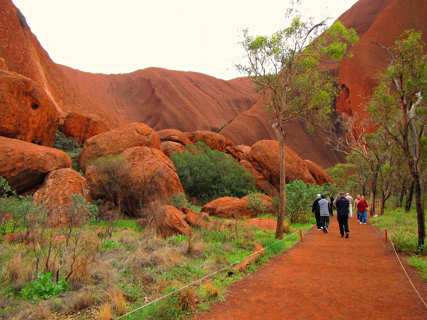 In the heart of Uluru,