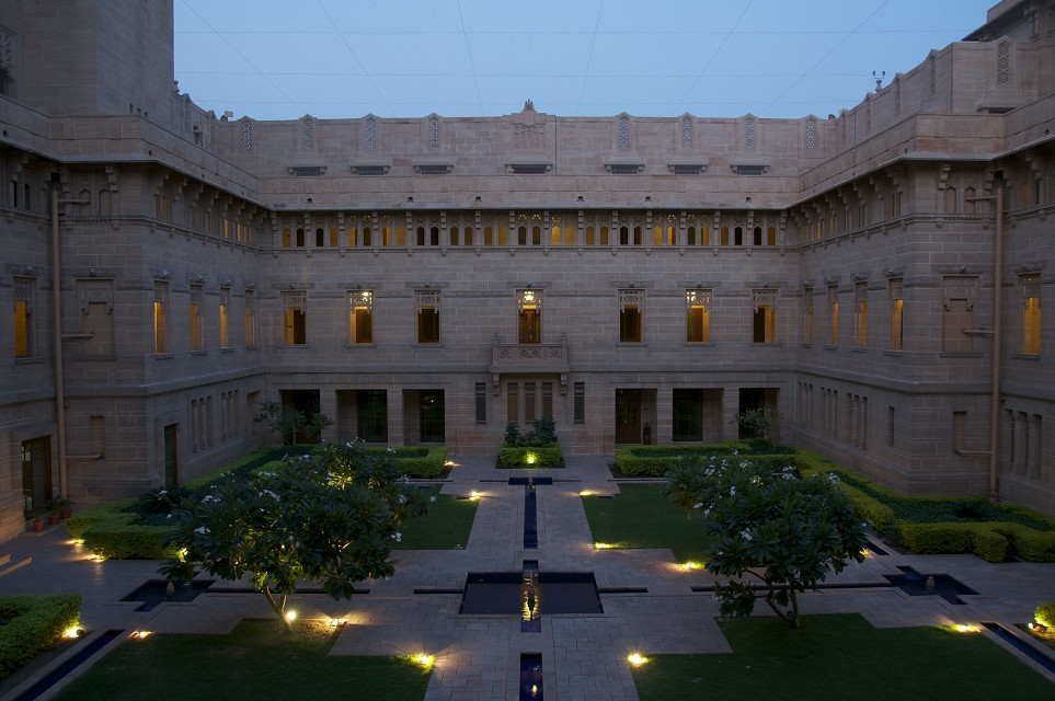 Courtyard at dawn  - Umaid Bhawan Palace