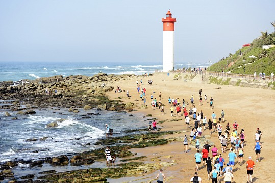The red and white lighthouse - Umhlanga Beach