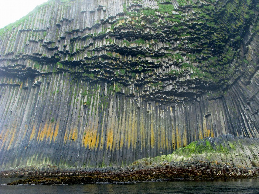 columnar basalt - bliznecky island offshore from urup island in the kuril island chain 2 - Urup