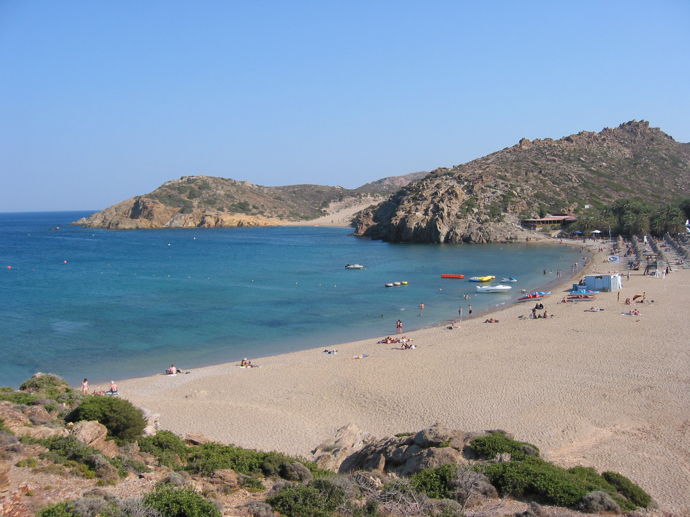 Vai, the palm forest of Vai in Crete